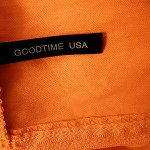 Goodtime Pants - GOODTIME Tangerine Jumpsuit Romper Ruffled Sleeves